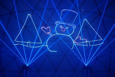 laser dome frosty snowman louisville