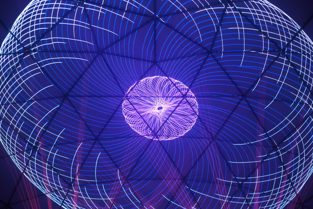 laser graphic show louisville dome geodesic