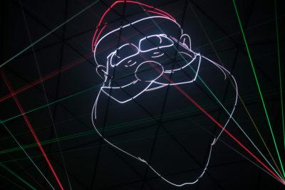 Santa laser show christmas louisville